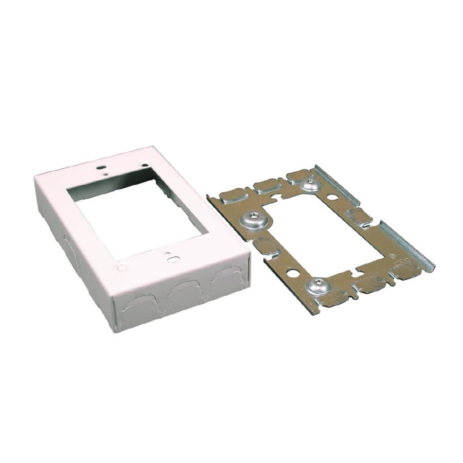 Shop Wiremold 500/700 1-Piece White Raceway Electrical Box at Lowes.com