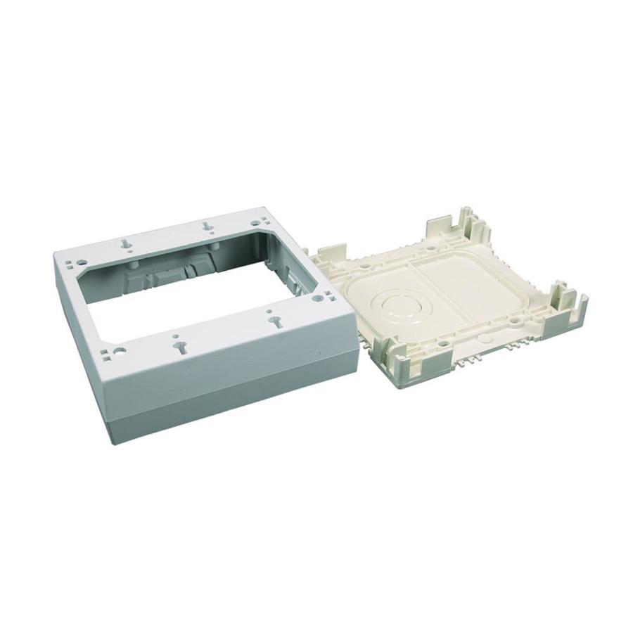 Wiremold 1-Piece White Raceway Electrical Box