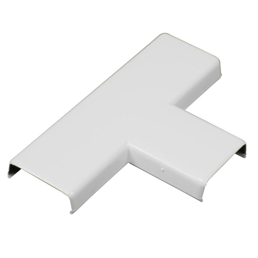 Wiremold NMW 1-Piece White Raceway T-fitting