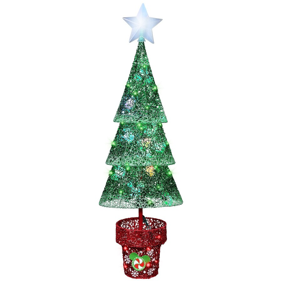 Disney Pre-Lit Tree Sculpture with Multi-Function Multicolor LED Lights