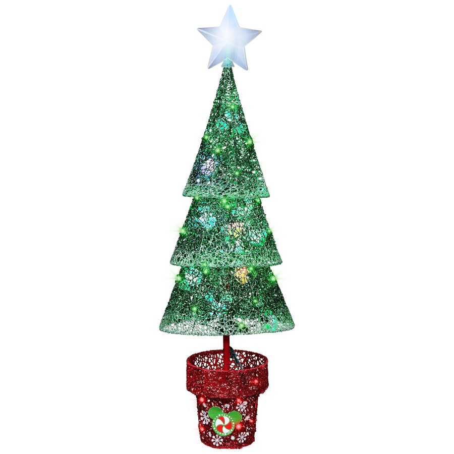 Shop Disney Pre-Lit Tree Sculpture with Multi-Function Multicolor ...