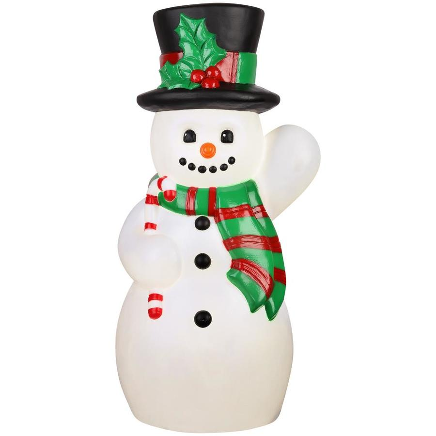 Holiday Living Pre-Lit Snowman Sculpture with Constant Yellow Incandescent Lights