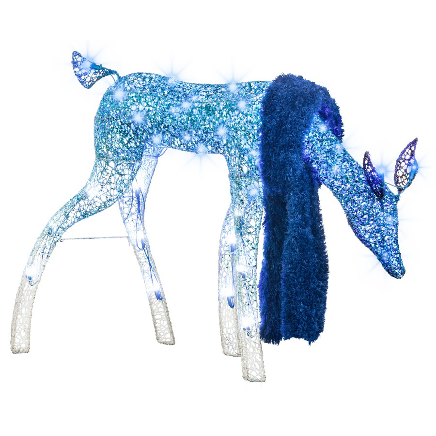 Holiday Living Pre-Lit Doe Sculpture with Multi-Function Multicolor LED Lights