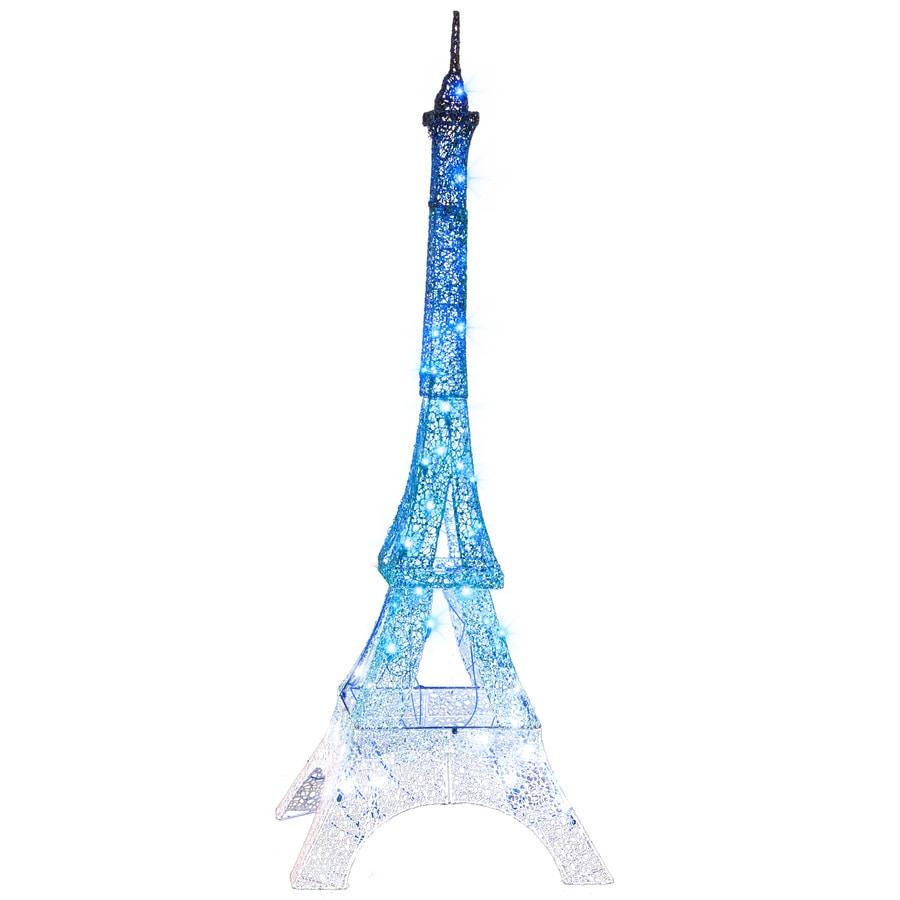 Holiday Living Pre-Lit Eiffel Tower Sculpture with Multi-Function Multicolor LED Lights
