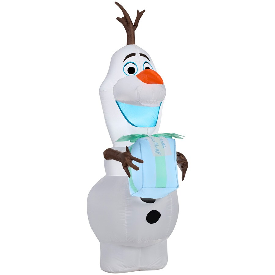 Shop Holiday Living 4-ft x 2.06-ft Lighted Olaf Christmas Inflatable ...