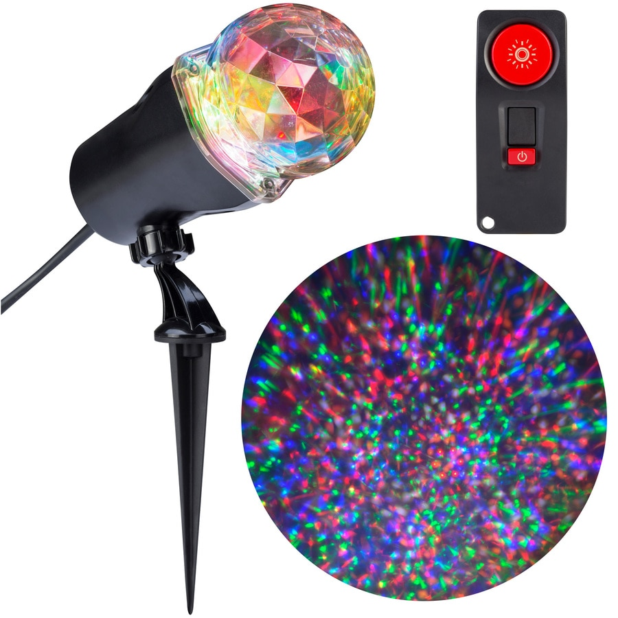Gemmy Lightshow Swirling Red, Green, Blue, White, Orange LED Kaleidoscope Christmas Indoor/Outdoor Spotlight Projector