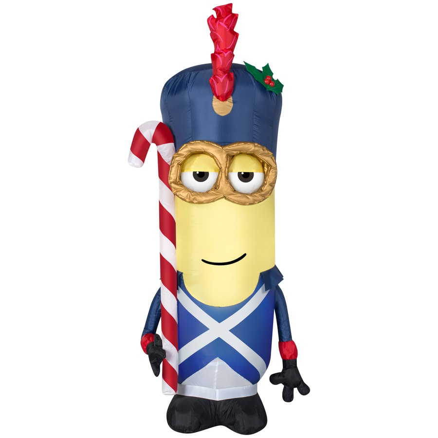 Holiday Living 3.51-ft x 1.31-ft Lighted Minion Christmas Inflatable