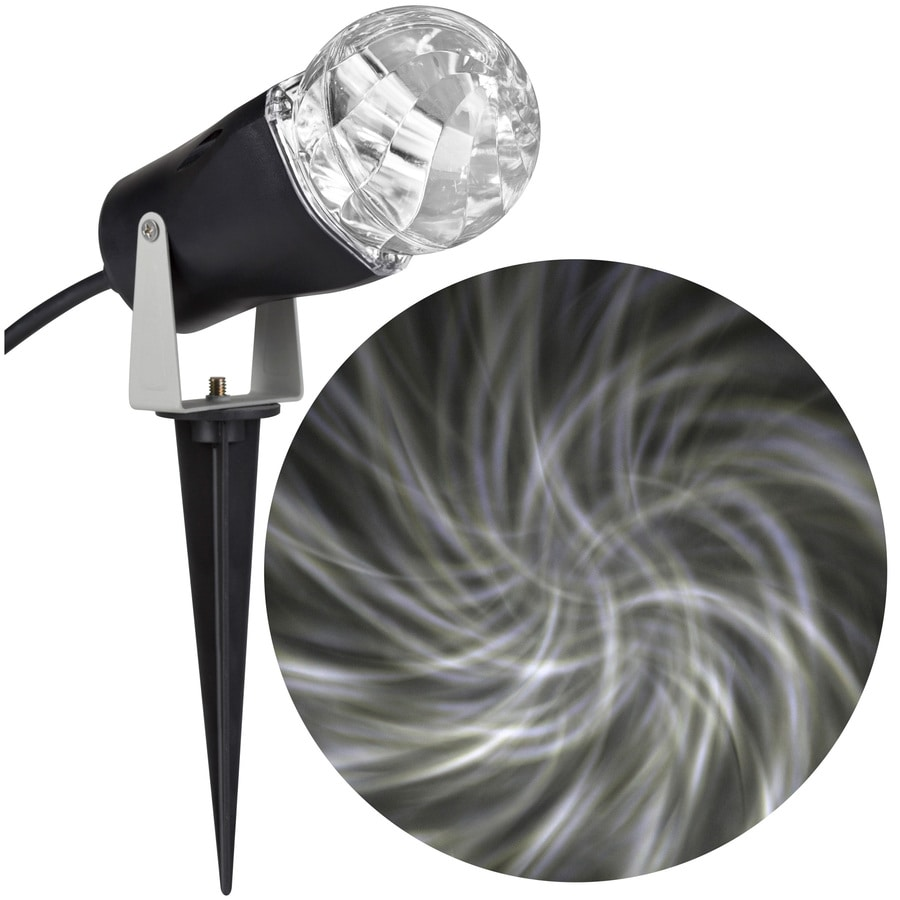 LightShow Lightshow Projection Multi-function White LED Kaleidoscope Christmas Outdoor Stake Light Projector