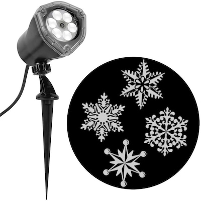 Christmas Snowflakes.Lightshow Projection Multi Function White Led Snowflakes Christmas Indoor Outdoor Stake Light Projector
