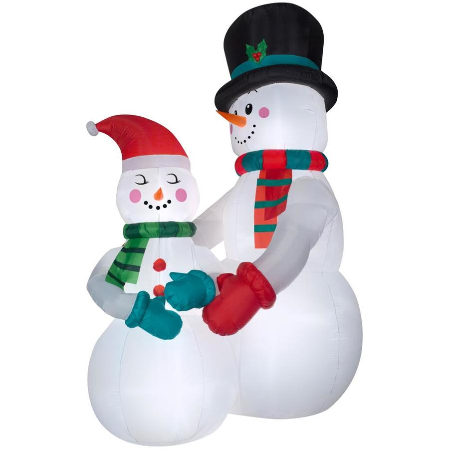 holiday living 105 ft x 469 ft lighted snowman christmas inflatable - Lowes Blow Up Christmas Decorations