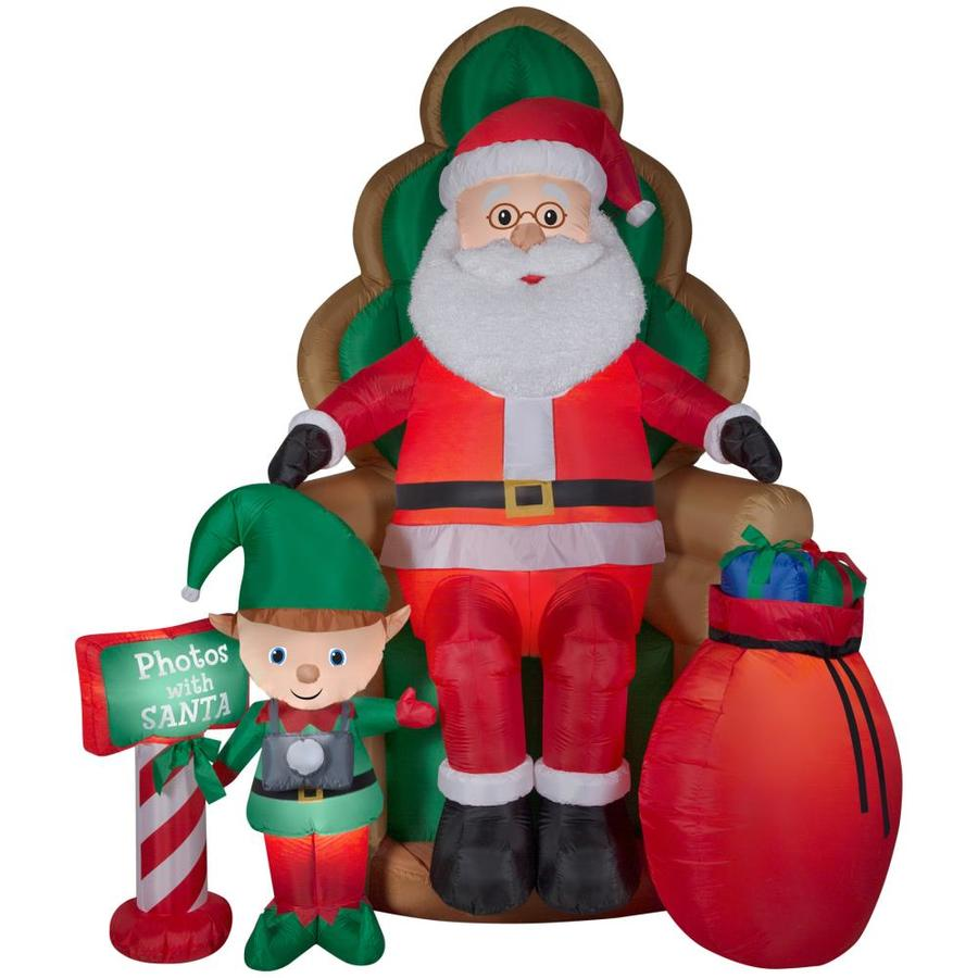 holiday living 1001 ft x 705 ft lighted santa christmas inflatable - Lowes Inflatable Christmas Decorations