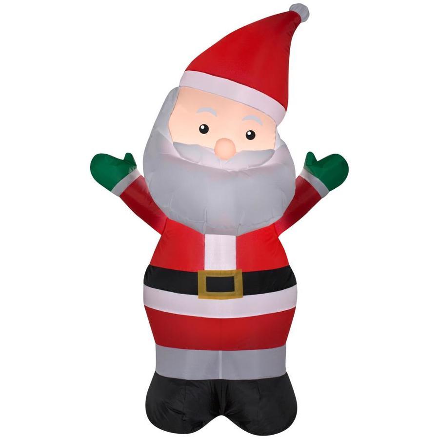 Shop holiday living ft lighted santa christmas
