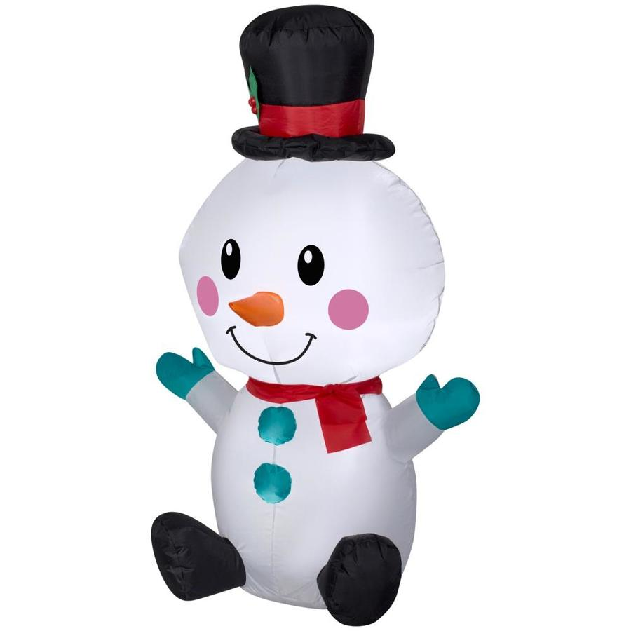 Holiday Living 4-ft x 2.36-ft Lighted Snowman Christmas Inflatable
