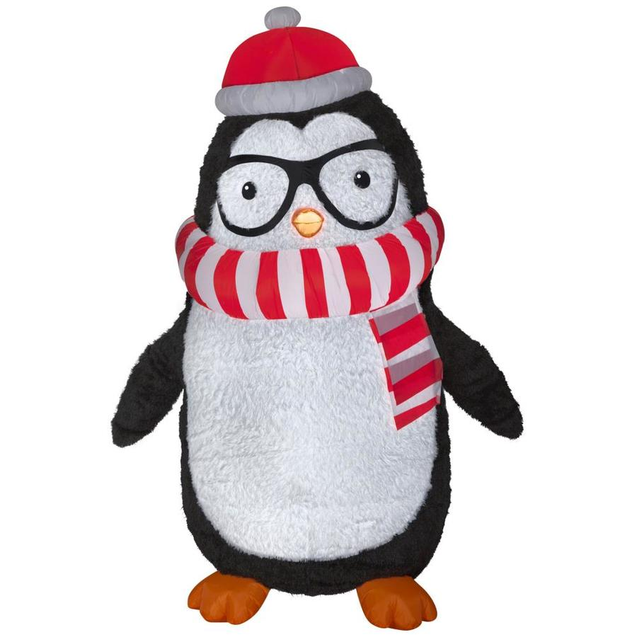 8 Airblown Inflatable Santa Penguin Coffee Shop Igloo: Inflatable Christmas Penguin Decorations