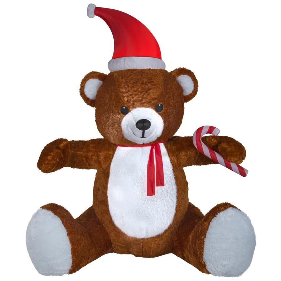 Holiday Living 8.5-ft x 6.33-ft Lighted Teddy Bear Christmas Inflatable