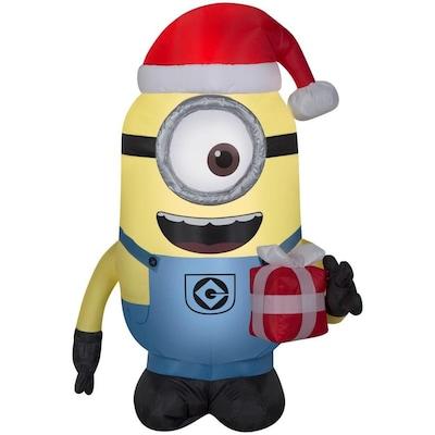 Minion Christmas.3 51 Ft X 2 1 Ft Lighted Minion Christmas Inflatable