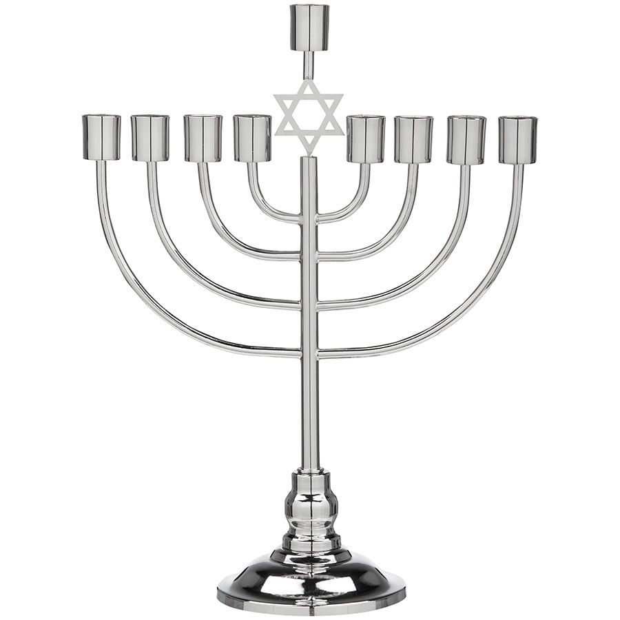 Gemmy Metal Tabletop Menorah