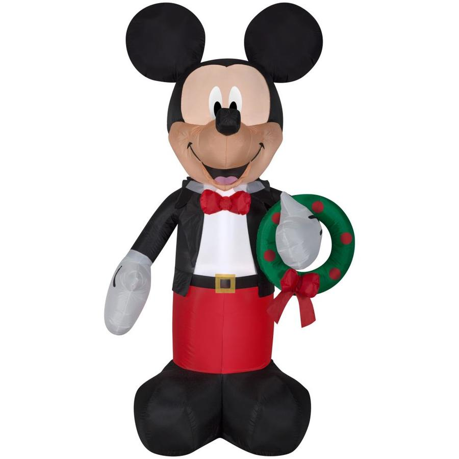 Shop Disney 6 Ft X 3 61 Ft Lighted Mickey Mouse Christmas