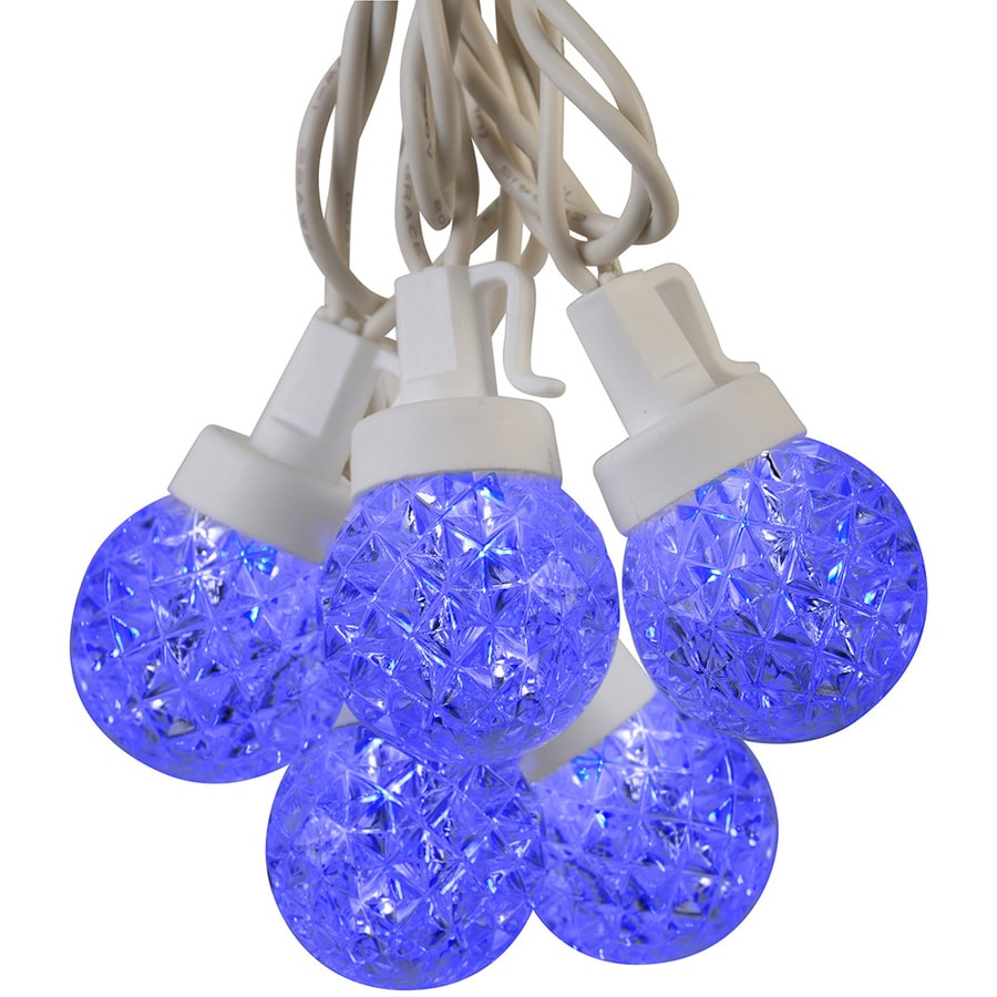 Shop LightShow Lighted Plastic Hanging String Lights Blue Led Lights at Lowes.com