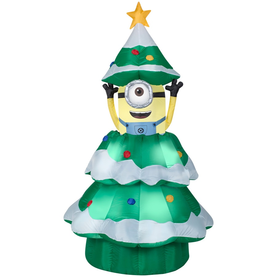gemmy 698 ft x 377 ft animatronic lighted minion christmas inflatable - Lowes Blow Up Christmas Decorations