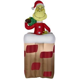 gemmy 551 ft x 243 ft animatronic lighted grinch christmas inflatable - Lowes Inflatables
