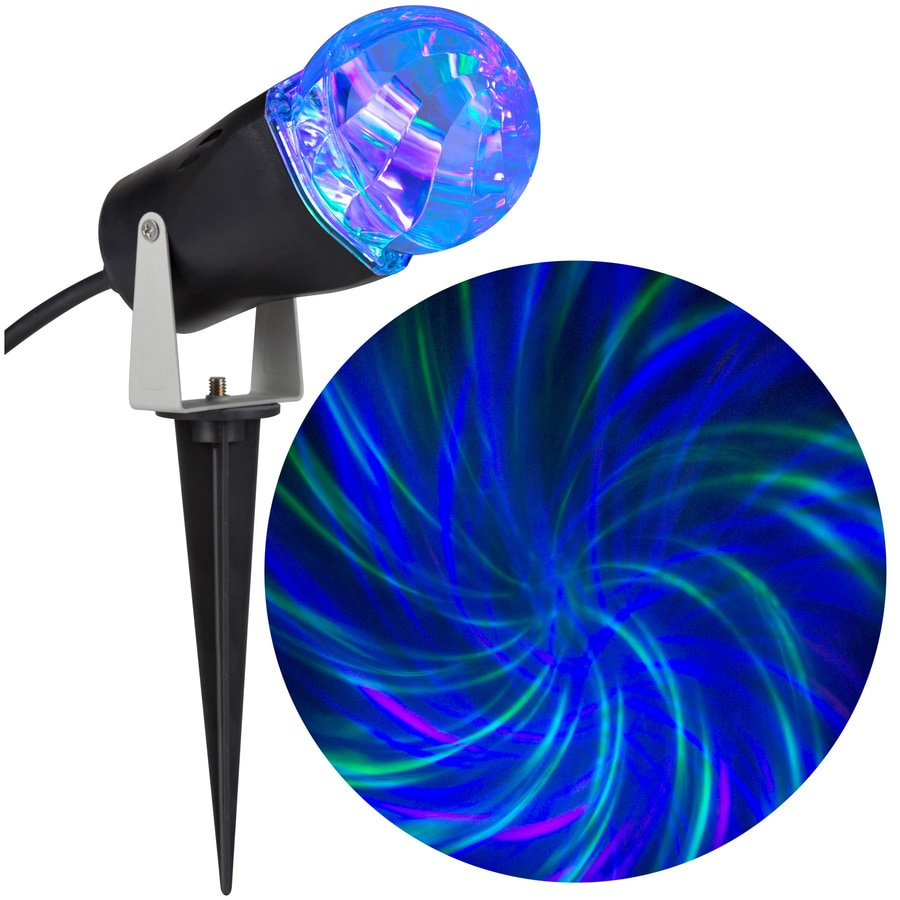 LightShow Lightshow Projection Multi-function Blue LED Kaleidoscope Christmas Outdoor Stake Light Projector