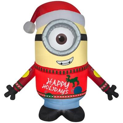 Minion Christmas.9 51 Ft X 7 87 Ft Lighted Minion Christmas Inflatable