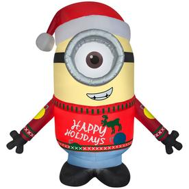 'Universal 9.51-ft x 7.87-ft Lighted Minion Christmas Inflatable' from the web at 'https://mobileimages.lowes.com/product/converted/086786/086786337349lg.jpg'
