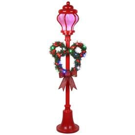 disney mickey friends 60 in mickey mouse lamp post with multicolor led lights - Light Post Christmas Decorations