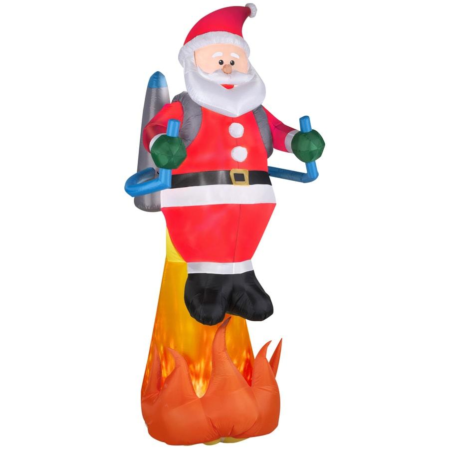 Shop gemmy ft lighted santa christmas