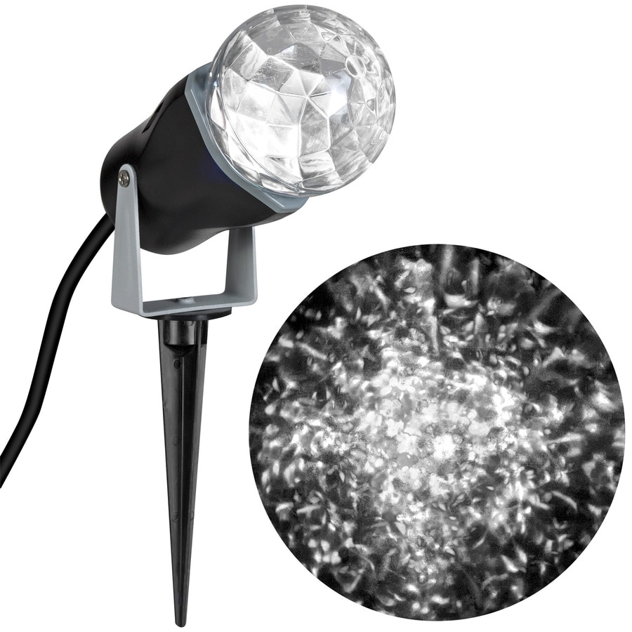 Gemmy Lightshow Swirling Cool White LED Kaleidoscope Christmas Spotlight Projector