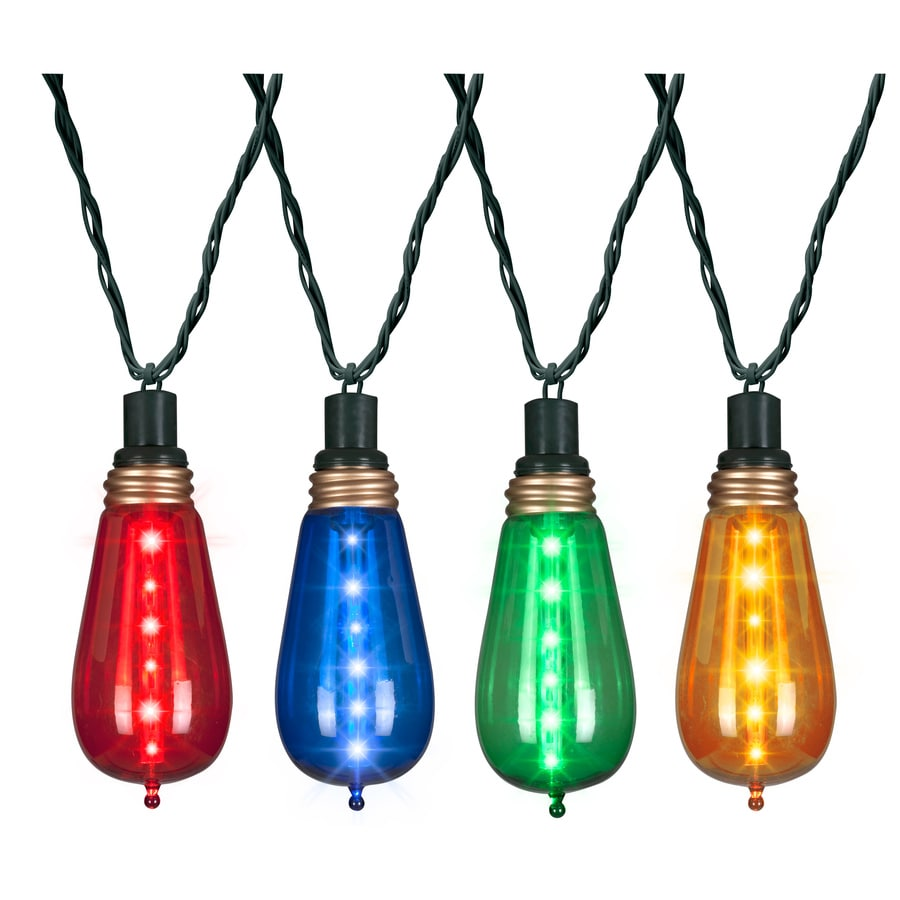 Hanging Outdoor Christmas Lights Youtube: Gemmy 24-Count 6-ft Shimmering Multicolor Edison LED Plug