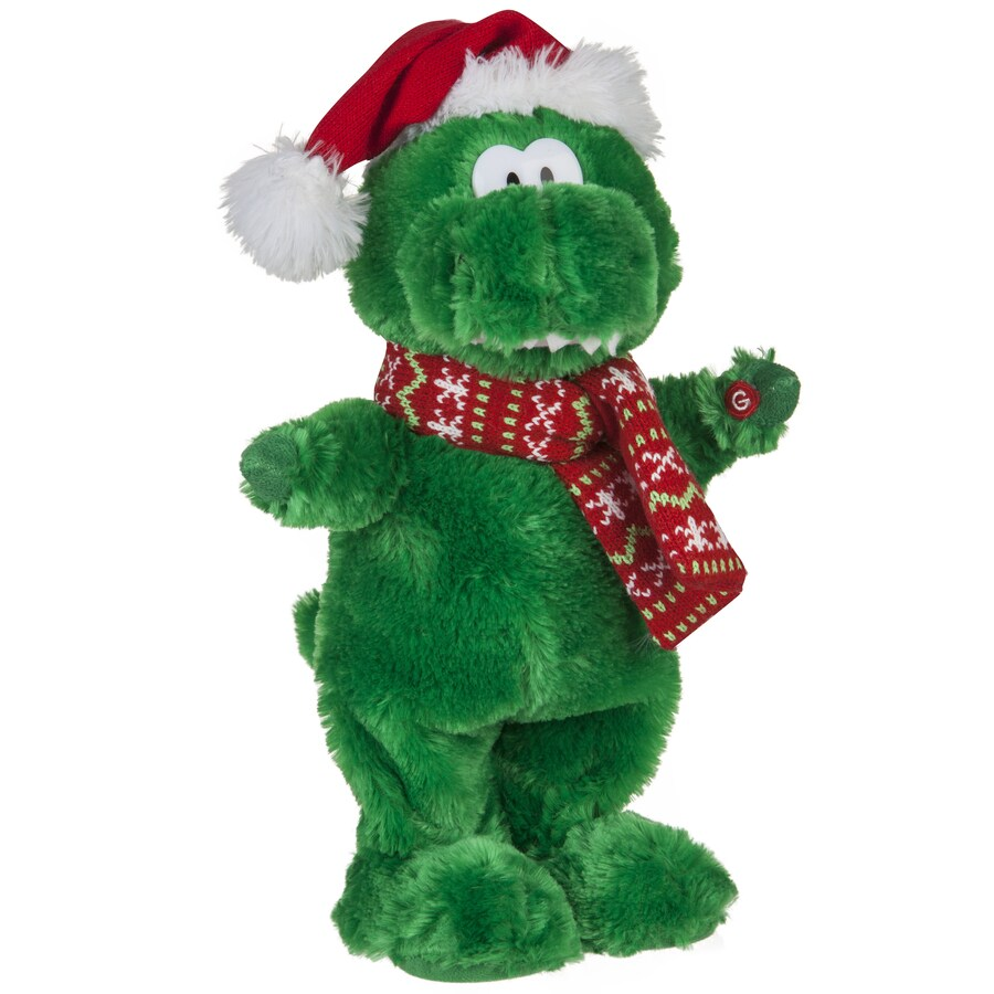 gemmy animatronic musical dinosaur indoor christmas decoration - Animatronic Christmas Decorations