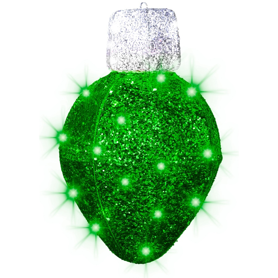 Shop Gemmy Pre-Lit Ornament with Twinkling Green LED Lights at Lowes.com