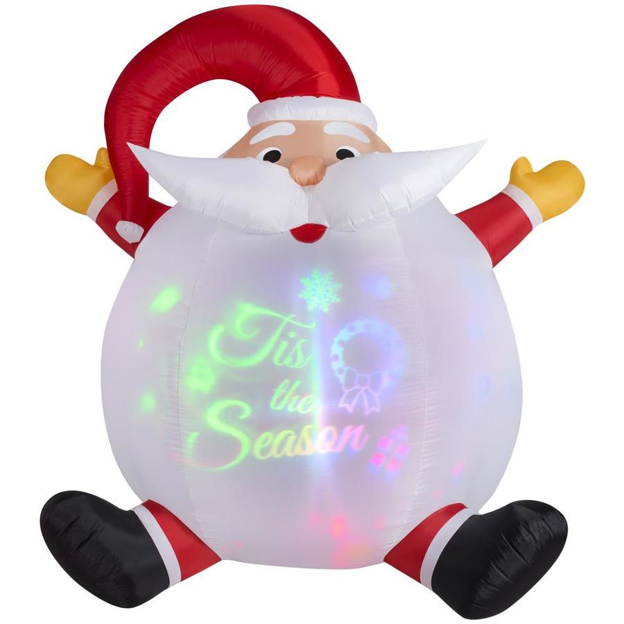 6ft Christmas Airblown Santa with Lights