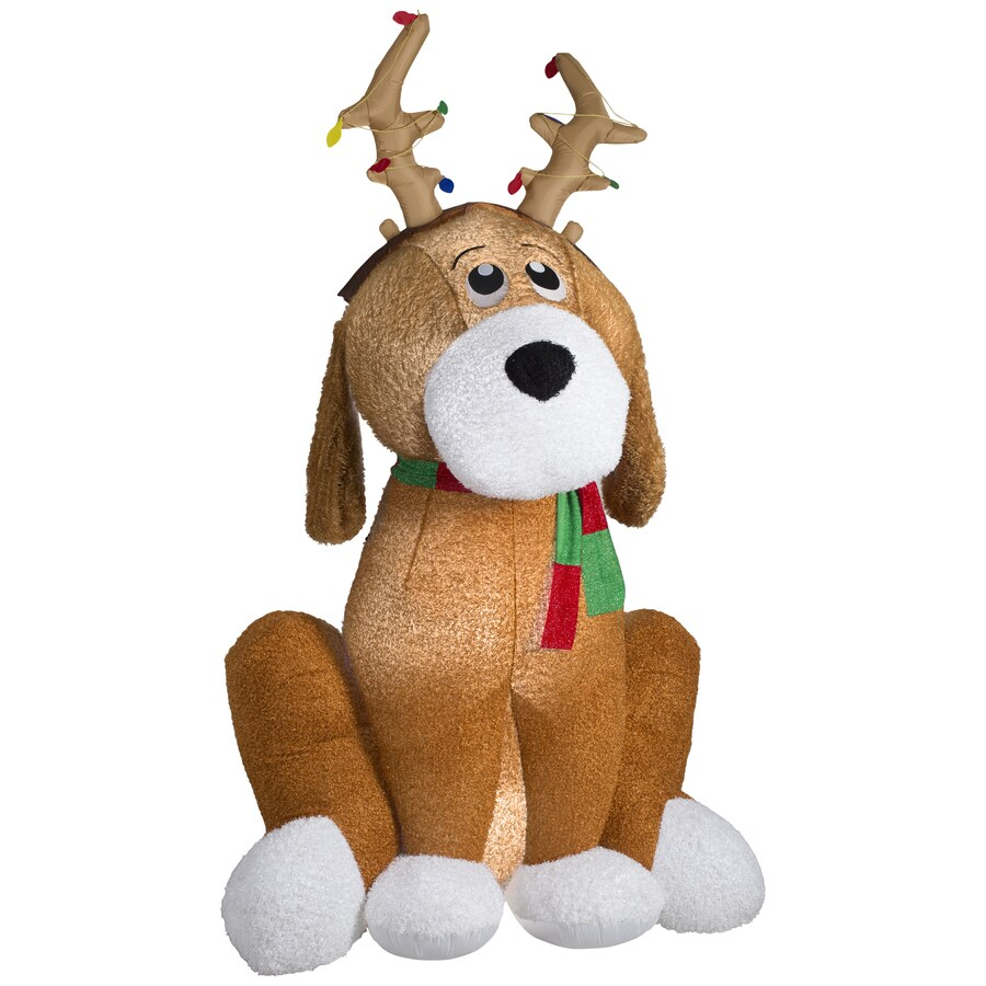 Gemmy 8 5 Ft X 6 79 Lighted Dog Christmas Inflatable
