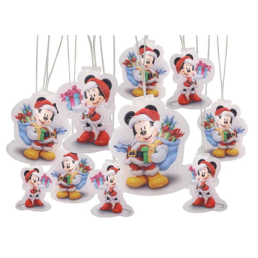 gemmy pre lit mickey and minnie with constant white led lights - Lit Minnie