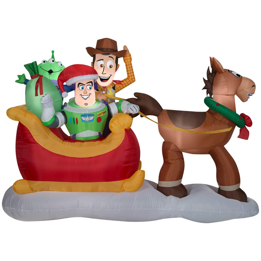 8/' TOY STORY SLEIGH SCENE Airblown Inflatable WOODY BUZZ BULLSEYE