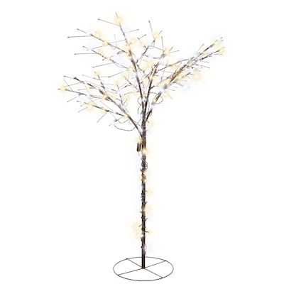 differently a791d 64501 Lighted Twig Tree Outdoor Christmas Decoration with White LED Lights