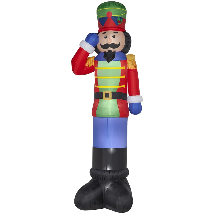 Shop gemmy x lighted nutcracker christmas for 4 foot nutcracker decoration