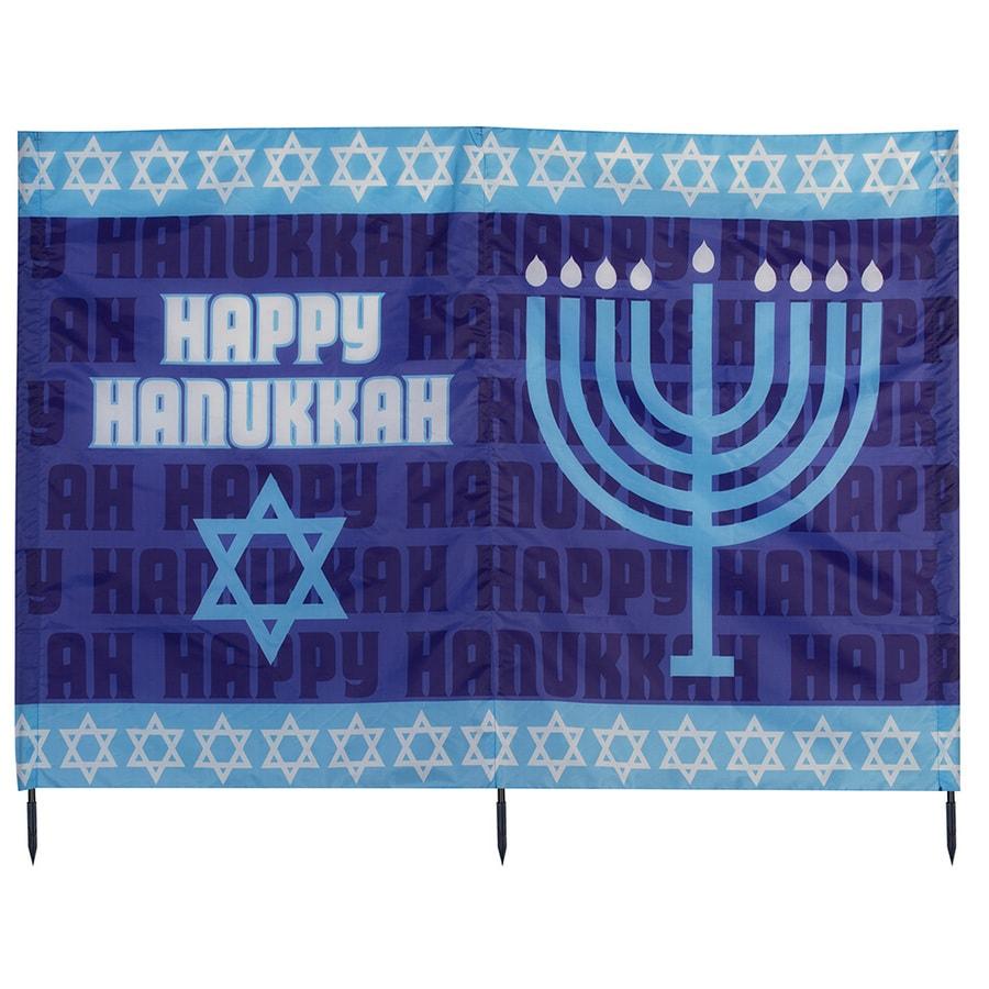 Gemmy Fabric Freestanding Happy Hanukkah Yard Card (Unlit) (Unlit) Lights