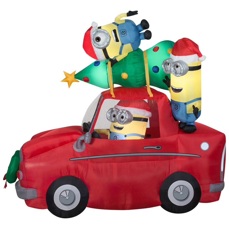 Holiday Living 7.38-ft x 4.26-ft Lighted Minion Christmas Inflatable