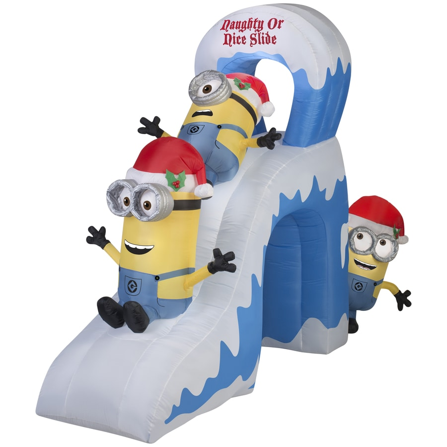 gemmy 787 ft x 417 ft lighted minion christmas inflatable - Lowes Blow Up Christmas Decorations