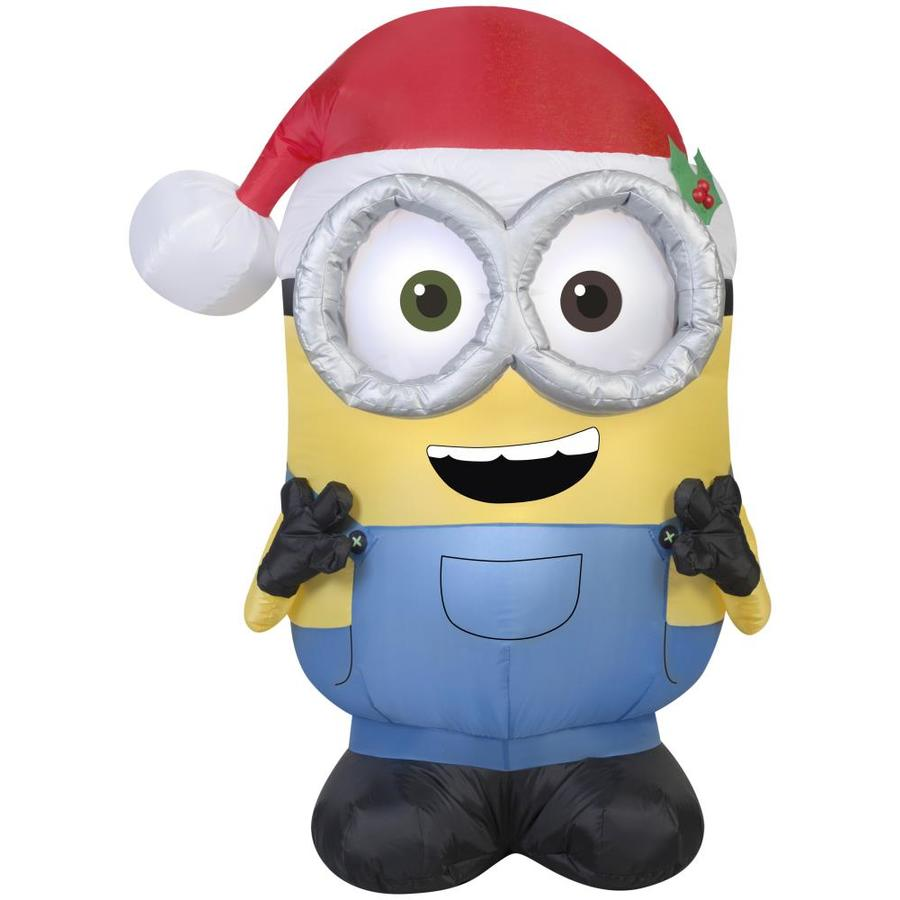 gemmy 351 ft x 174 ft lighted minion christmas inflatable - Lowes Blow Up Christmas Decorations