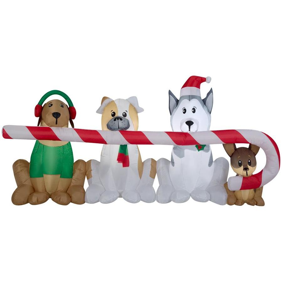 Gemmy 4 Ft Lighted Dog Christmas Inflatable