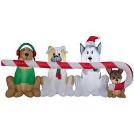 Gemmy 4-ft Lighted Dog Christmas Inflatable