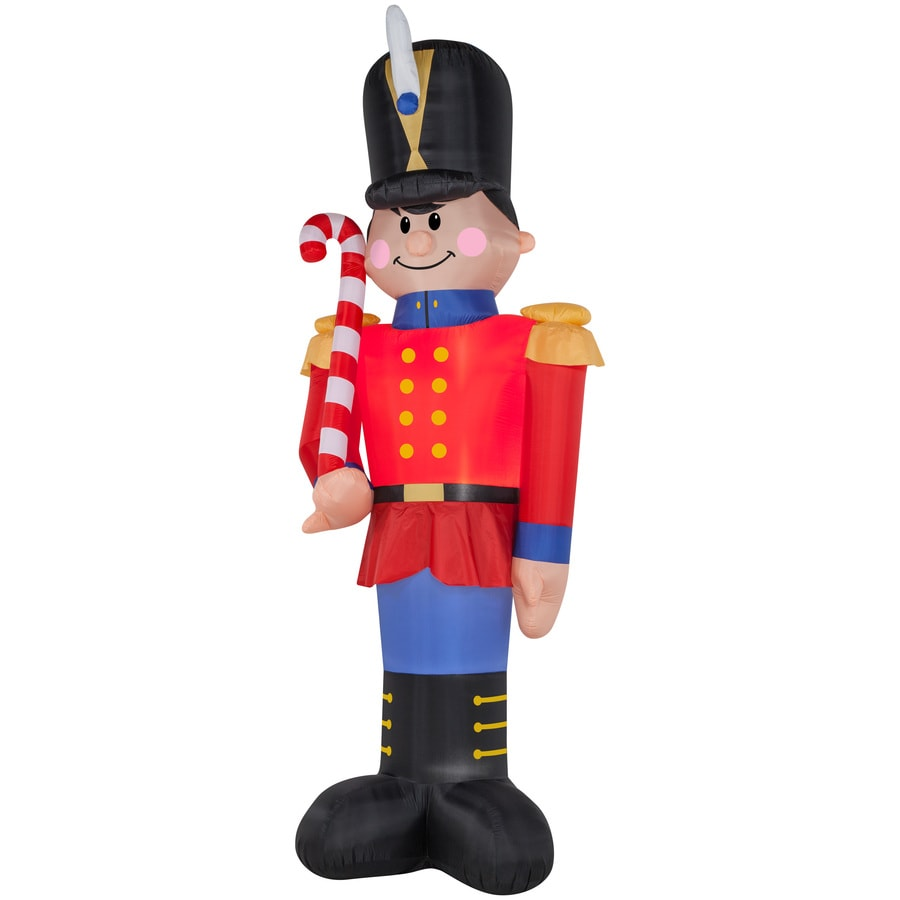 holiday living 1601 ft x 351 ft lighted nutcracker christmas inflatable - Lowes Inflatable Christmas Decorations