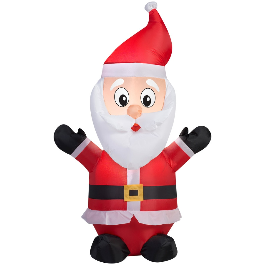 Holiday Living 4-ft x 1.64-ft Lighted Santa Christmas Inflatable