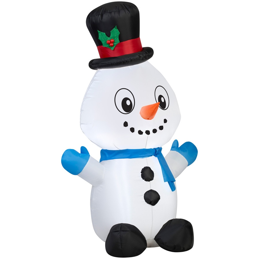 Holiday Living 4-ft x 1.64-ft Lighted Snowman Christmas Inflatable