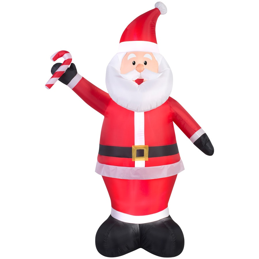holiday living 698 ft x 229 ft lighted santa christmas inflatable - Lowes Inflatables